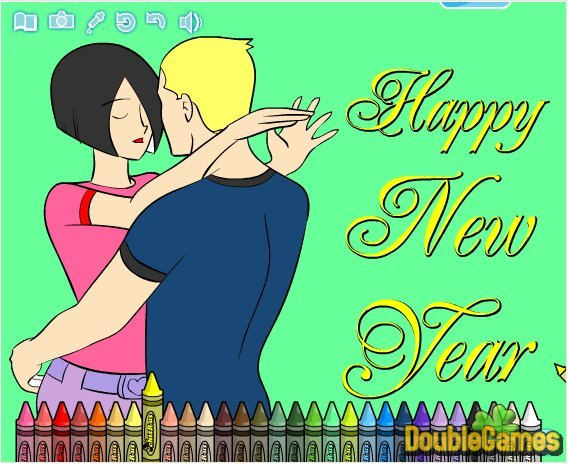 Free Download New Year Coloring Book Game 2010 Screenshot 3