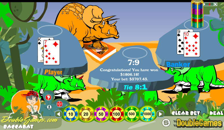 Free Download Prehistoric Baccarat Screenshot 1