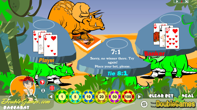 Free Download Prehistoric Baccarat Screenshot 3
