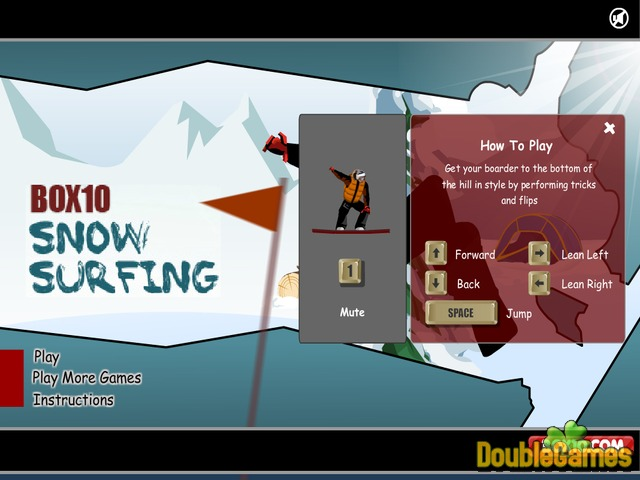 Free Download Snow Surfing Screenshot 1