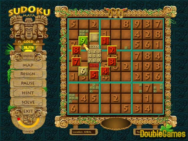 Free Download Sudoku Maya Gold Screenshot 1