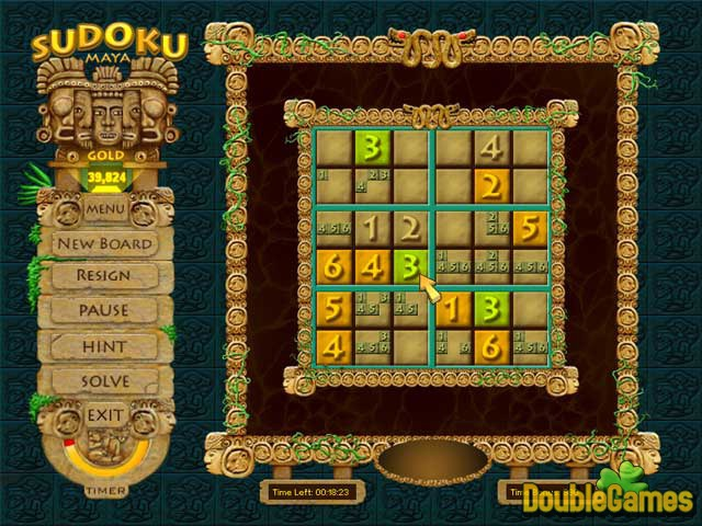 Free Download Sudoku Maya Gold Screenshot 3